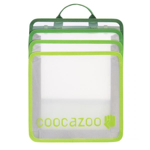 Faltbare Heftbox Check Bag Transparent Green