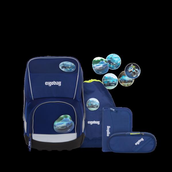ergobag wide Schulrucksack-Set BlauchlichtBär
