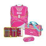 Scout Alpha Pink Butterfly Schulrucksack Set 4tlg.