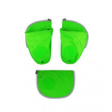Fluo Seitentaschen Zip-Set Grün