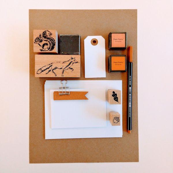 Kreativset mit Papier, Stanzer und Stift Set 3