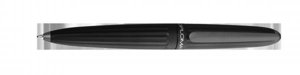 Kugelschreiber Aero schwarz + Lederetui GRATIS