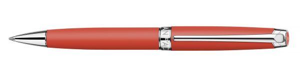 Kugelschreiber Leman Koralle Matt versilbert/rhodiniert