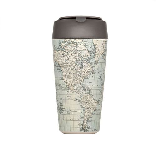 bioloco plant deluxe cup - antique map 420ml