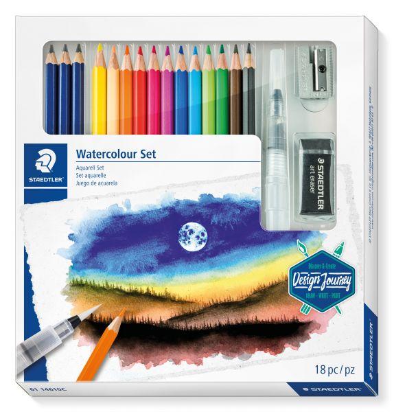 Staedtler Schreibgeräteset Watercolour Set Aquarell Set 18-teilig