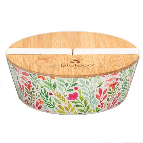 bioloco plant lunchbox - watercolour flowers 500ml
