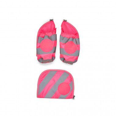 Fluo Seitentaschen Zip-Set Reflektor Pink