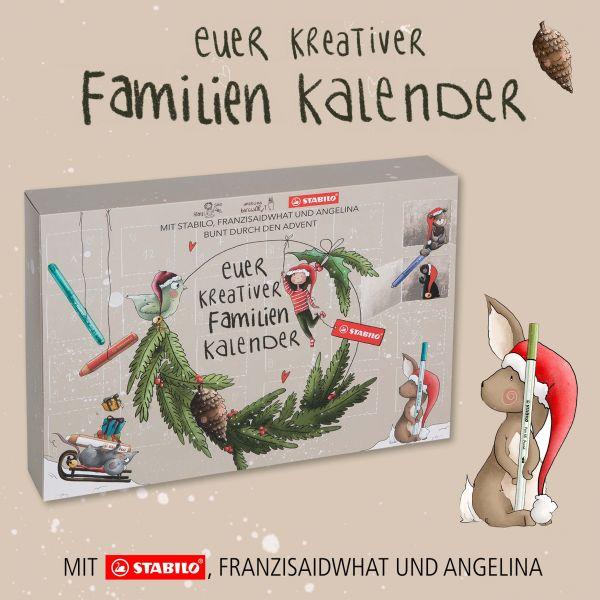 Stabilo Kreativer Familienkalender Adentskalender 2021