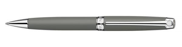 Kugelschreiber Leman Grau Matt versilbert/rhodiniert