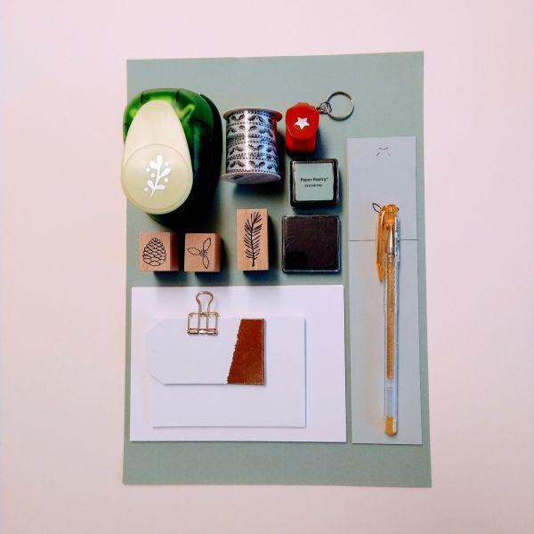 Kreativset mit Papier, Stanzer und Stift Set 1