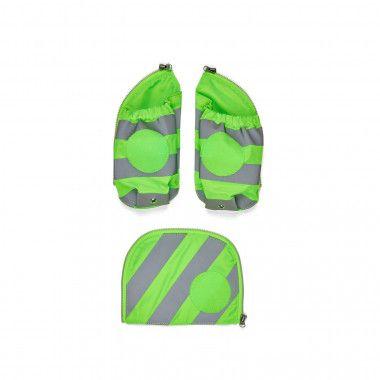 Fluo Seitentaschen Zip-Set Reflektor Grün