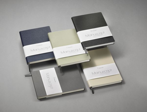 Hahnemühle Manuscript Notizbuch beige A5 recyceltes Leder 96 Blatt/192 Seiten dotted