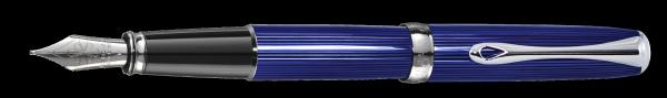 Füllhalter Excellence A2 Skyline blau M + Lederetui GRATIS