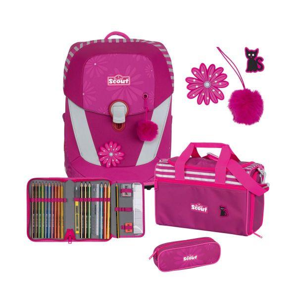 Scout Schulranzen-Set Sunny II Pretty Pink Funny Snaps
