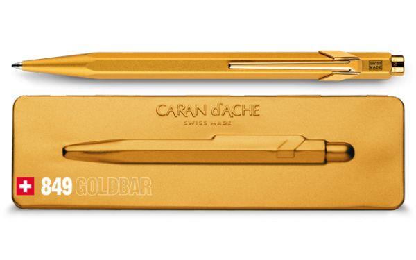 Kugelschreiber 849 Goldbar mit Etui