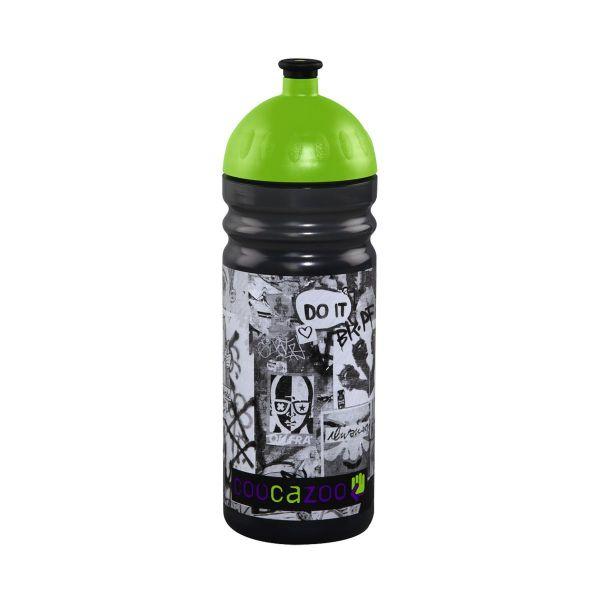 Trinkflasche Juicy Lucy Graffiti Schwarz