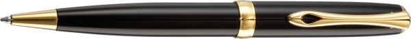 Kugelschreiber Excellence A2 lack schwarz-vergoldet