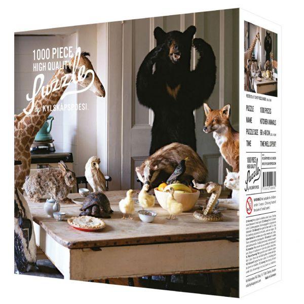 Kylskåpspoesi Puzzle Kitchen Animals