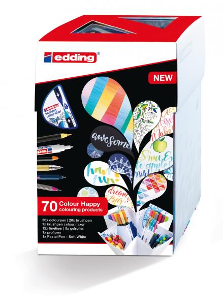 Edding Set mit 70 Teilen (69 Stifte und Colour Mixer)