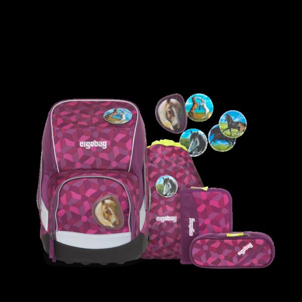 ergobag wide Schulrucksack-Set NachtschwärmBär