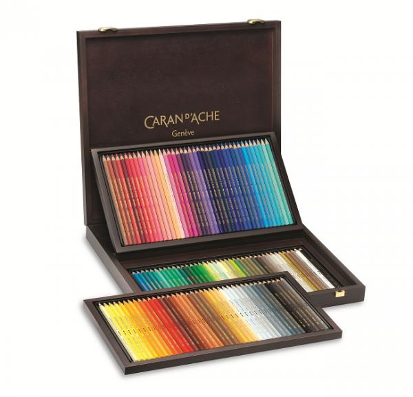 120 Farben SUPRACOLOR® Soft Aquarelle Farbstifte im Holzkoffer