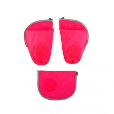 Fluo Seitentaschen Zip-Set Pink
